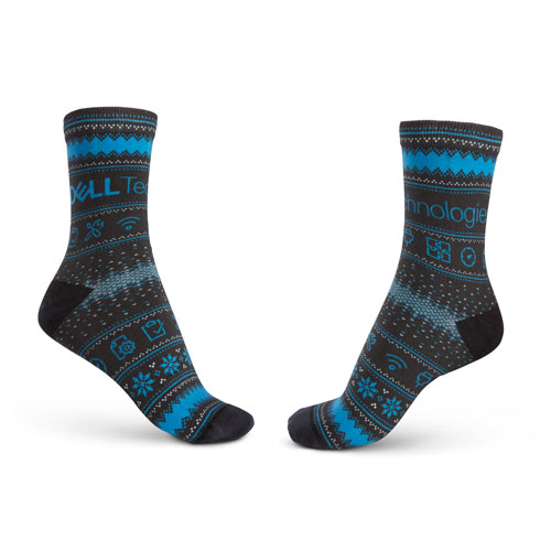 "Dell Tech ""Ugly Sweater"" Holiday Socks"