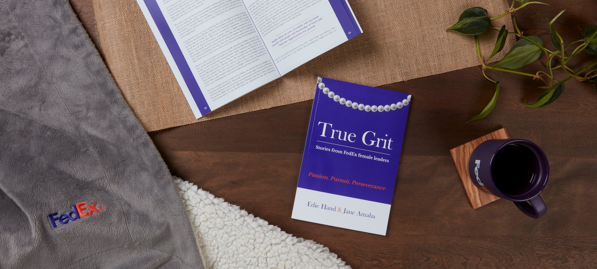 Copy of True Grit book on a table