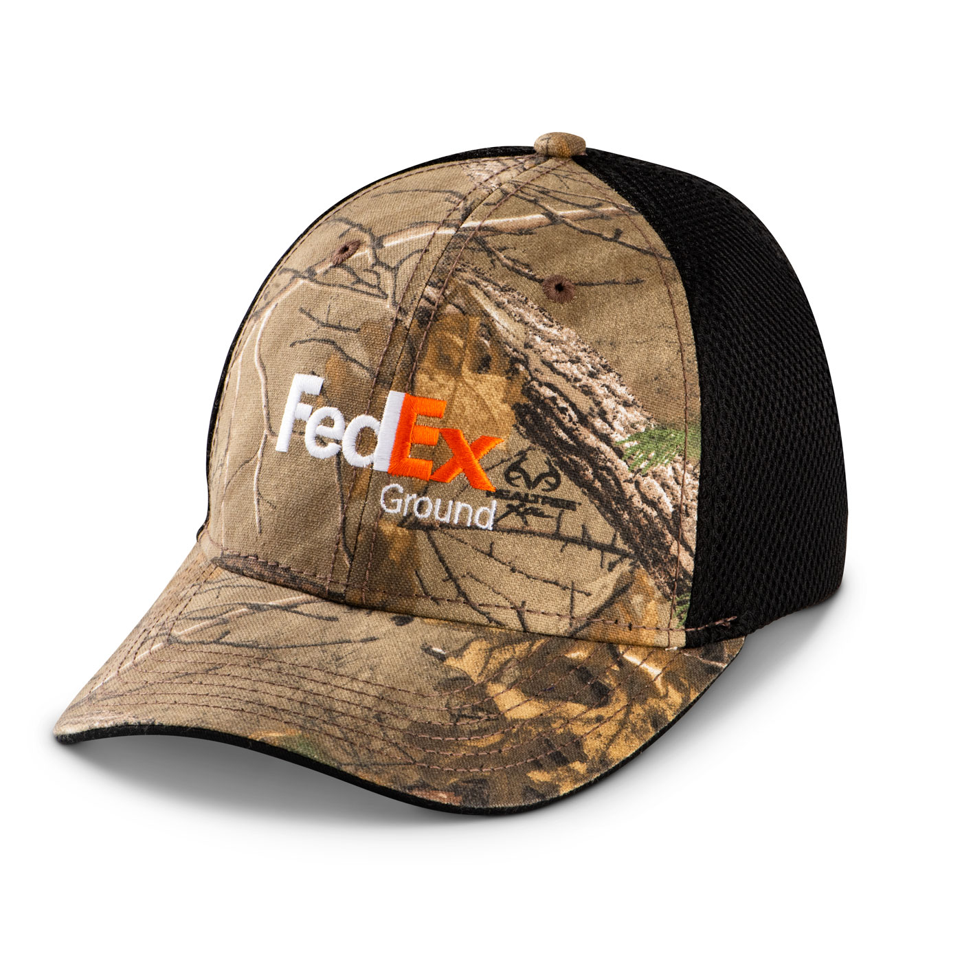 FedEx Freight Black Embroidered Logo Adjustable Realtree Xtra Camo Mesh Cap Hat