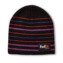 FED Express Micro Stripe Knit Beanie Black