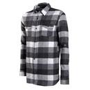 FED Mens LS Flannel Shirt Black 2XL