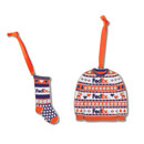 FedEx Holiday Ornaments – Sweater and Stocking (2 Pack)