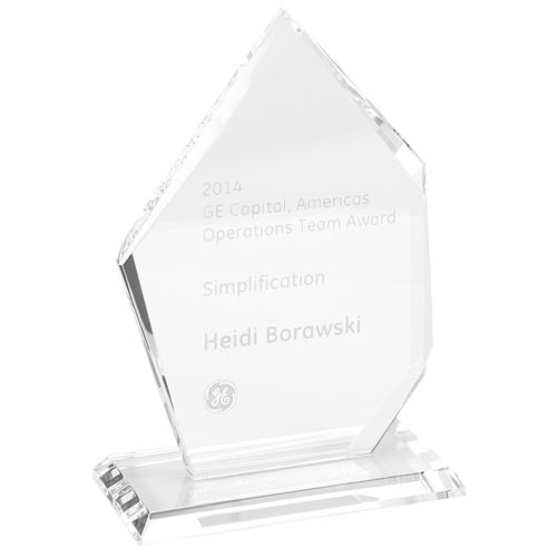 Freestanding Crystal Summit Award