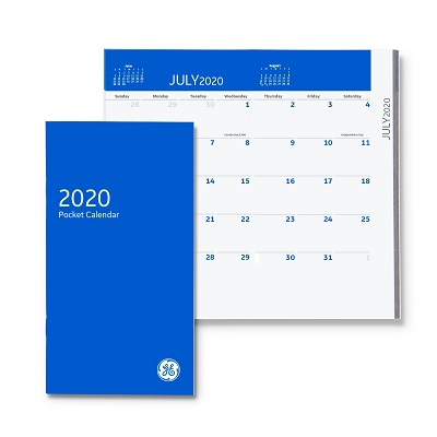 GE Custom 2020 Pocket Datebook Blue