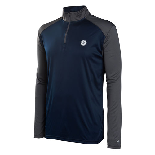 GE Mens Ultimate Sport Quarter Zip Navy