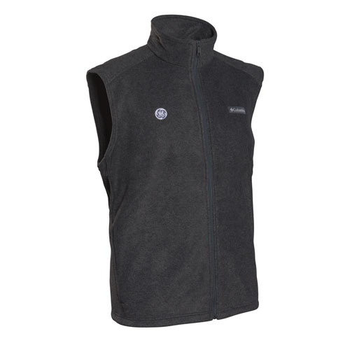 GE Mens Columbia Steens Mountain Vest Charcoal Heather 2X