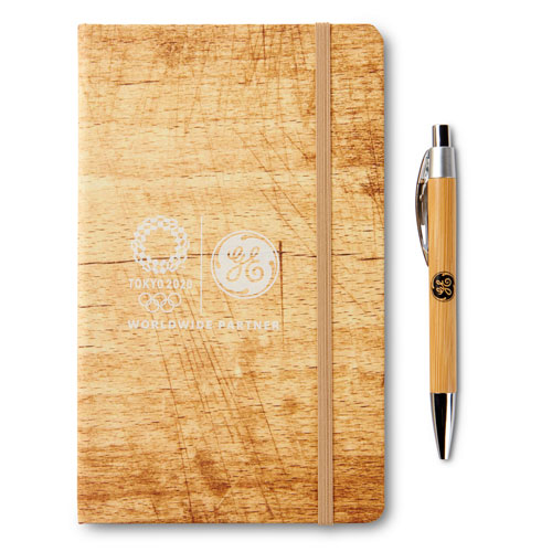 GE Tokyo Olympics Nature Journal with Asian Bamboo Ballpoint Pen