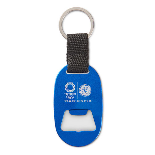 GE Tokyo Olympics Metal Key Tag With Bottle Opener