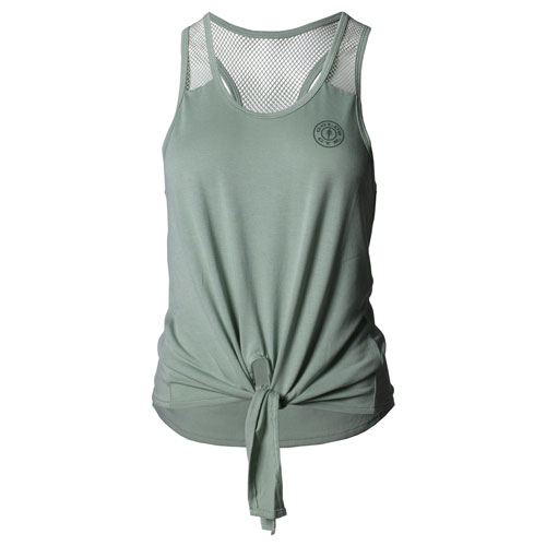Women's Green Twist-Tie Racerback Tank