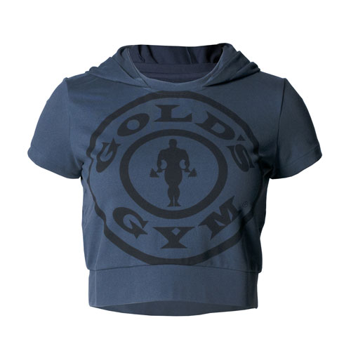 Women's Navy Compression Crop Hoodie