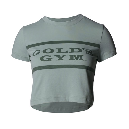 Women's Green Crewneck Crop Tee