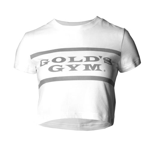 Women's White Crewneck Crop Tee