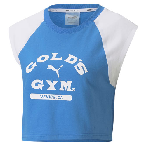 Cropped Ladies' Blue Tee by PUMA