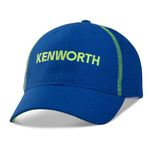 Blue and Neon Fitted Cap