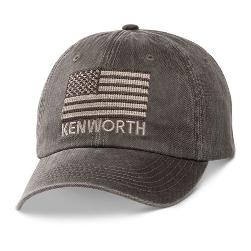 Tonal Flag Dark-Textured Oil Cloth Hat