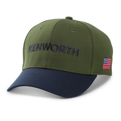 Olive and Navy Tonal American Flag Cap