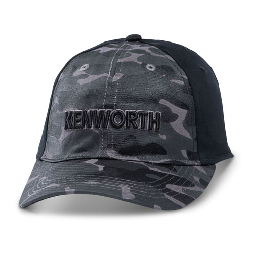 Black Tonal Camo Unstructured Fitted Cap