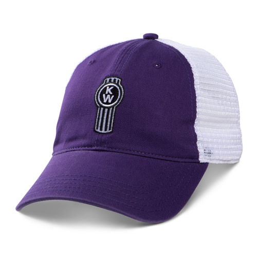 Ladies' Purple  Mesh-Back Unstructured Cap