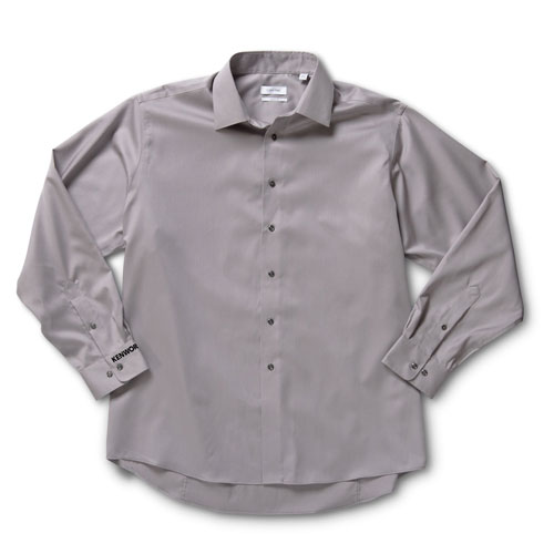 Gray Calvin Klein No-Iron Dress Shirt