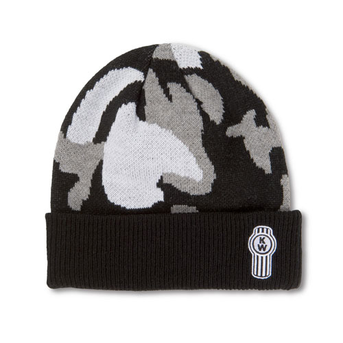 Grayscale Camo Beanie with Cuff