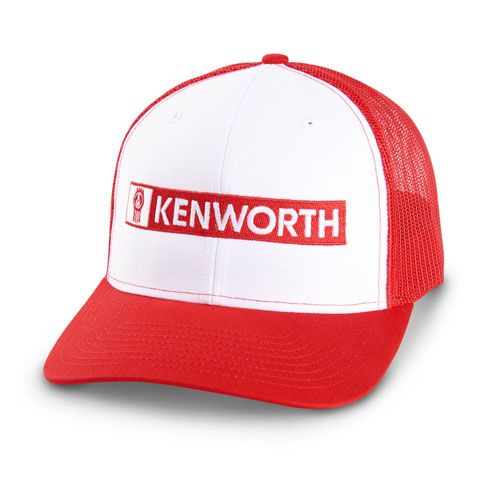 Richardson Mesh Trucker Hat – White/Red