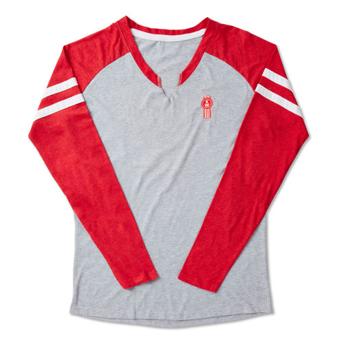 Ladies' Game Day V-Notch Long-Sleeve Shirt