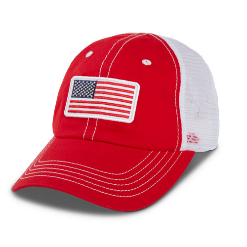 Kids' Flag Mesh Hat