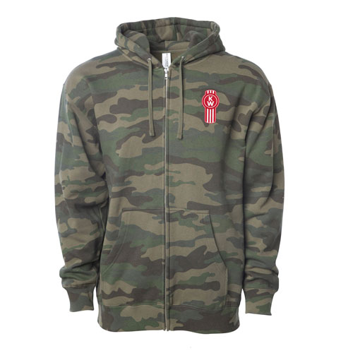 Zippered Fleece Hoodie – Camo