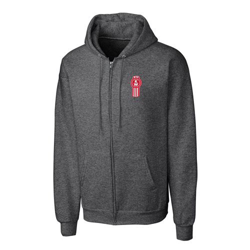 Zippered Fleece Hoodie – Gray