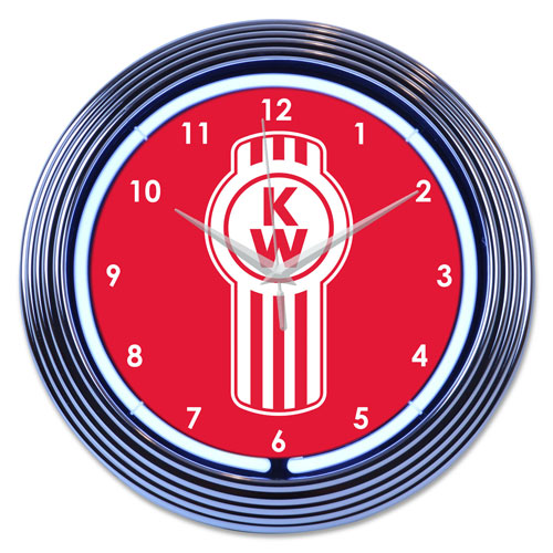 Round Neon Wall Clock
