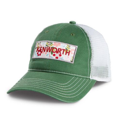 Ladies Green Flower Cap