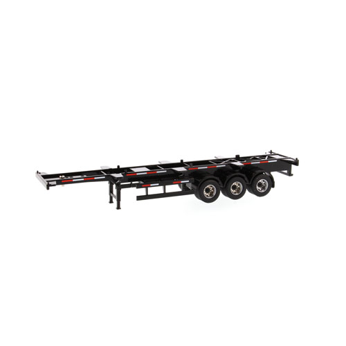 1:50 Scale 40 Ft Skeleton Trailer - Black