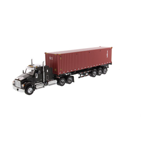1:50 Scale T880 Sleeper with Sea Container - Metallic Black