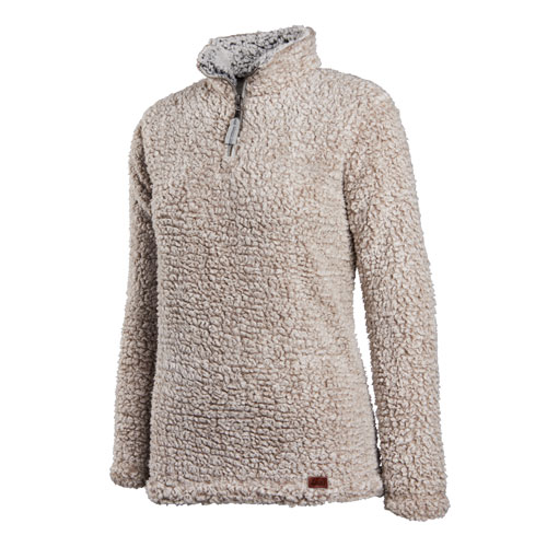 Women's Quarter Zip Sherpa  Fleece Pullover