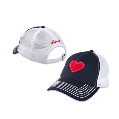 Ladies Heart Chino Twill Cap