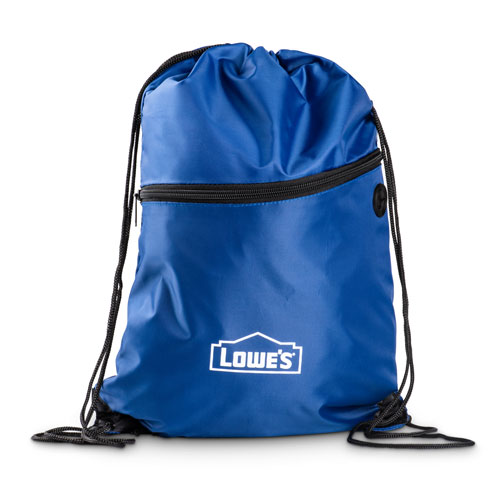 Zippered Drawstring Sling Pack