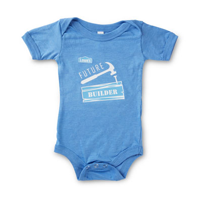 """Future Builder"" Blue Onesie"