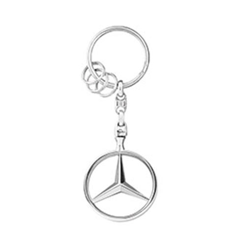 Mercedes-Benz Star Key Ring - Silver