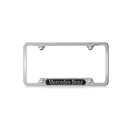 Mercedes-Benz Polished License Plate Frame With Carbon Fiber