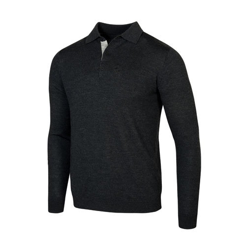 Men's Merino Wool Long-Sleeve Polo