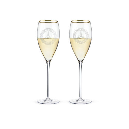 Classic Stemmed White Wine Glasses, Set Of 2