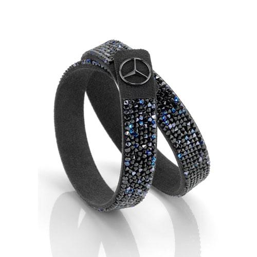 Women's Swarovski® Microfiber Bracelet - Black Edition