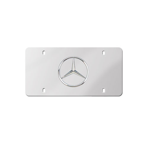 Polished Front License Plate