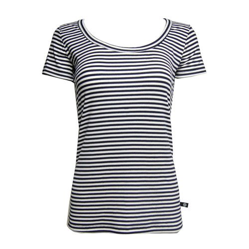 Women's Stars And Stripes Scoop Neck T- Shirt