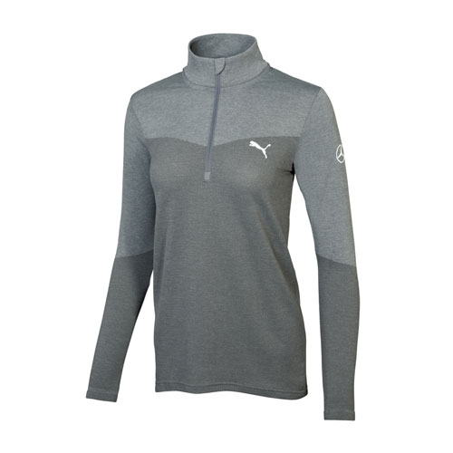 MER Womens PUMA evoKNIT golf 1/4-zip pullover (AMBL901 GY) Multi-Colored WXL