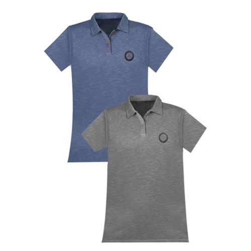 Women's Classic Cotton Pique Polo - BLUE
