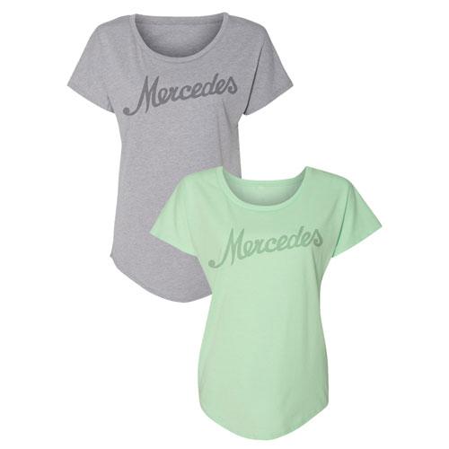 Women's Mercedes Script Dolman T-Shirt - GREEN