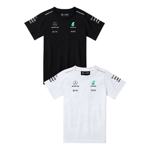 Youth Mercedes-AMG Petronas Team T-Shirt - WHITE