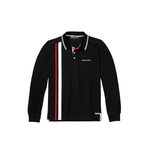Men's AMG Long-Sleeve Cotton Polo