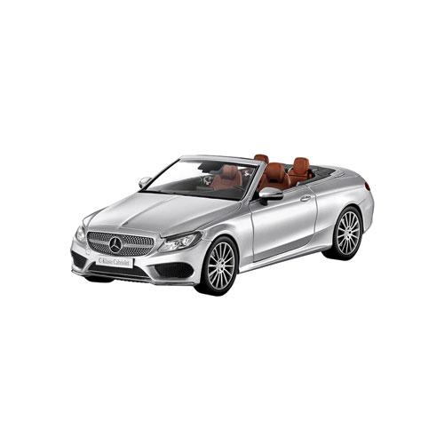 1:18 I-Scale Mercedes C-Class A205 Convertible 2016 silver